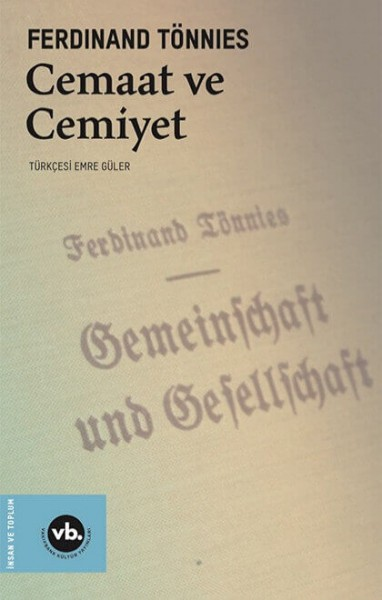 Cemaat ve Cemiyet - Ferdinand Tönnies
