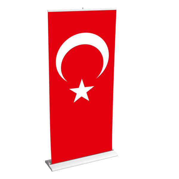 Roll-Up 85cm x 200cm Türk Bayrağı