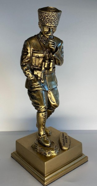 Atatürk Heykeli Küçük Boy - Kocatepe, Altın Renk