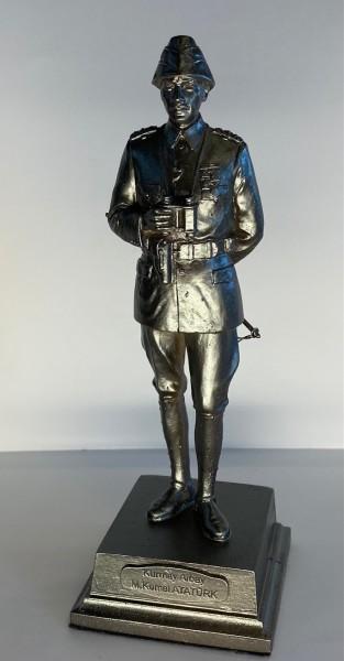 Atatürk Heykeli Küçük Boy - Kurmay Albay, Gümüş Renk