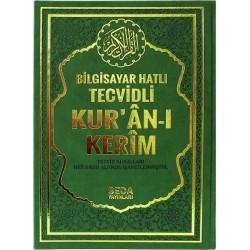 Bilgisayar Hatlı Tecvidli Kur'an-ı Kerim (Cami Boy) Yeşil